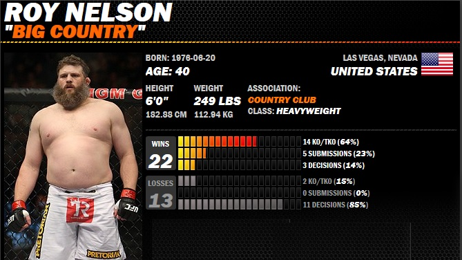 roy-nelson-ufc-fight-record